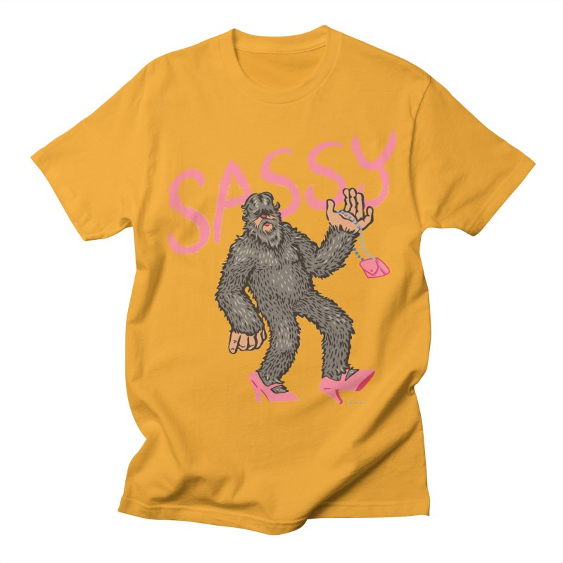 Sassy - Sasquatch in High Heels Women's Regular Unisex T-Shirt by Cheap Chills Fan Club