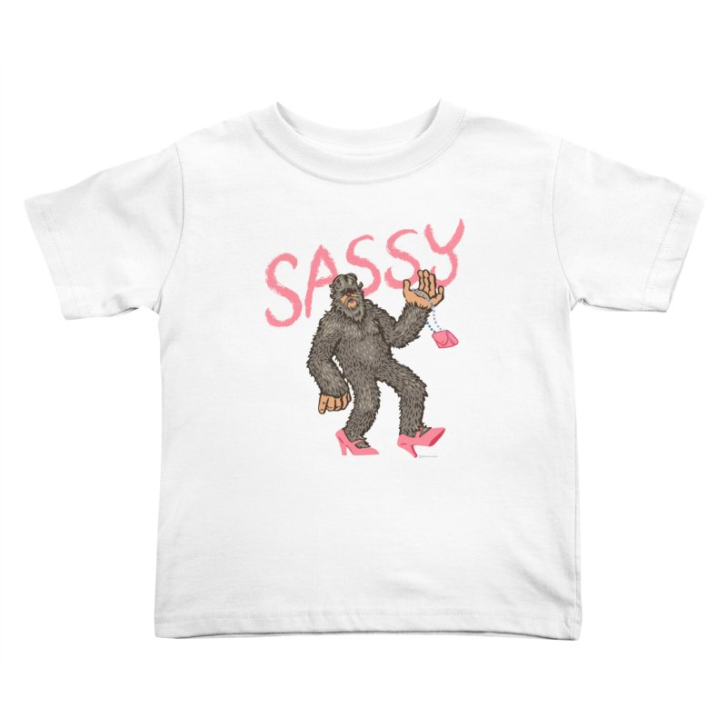 Sassy - Sasquatch in High Heels Kids Toddler T-Shirt by Cheap Chills Fan Club