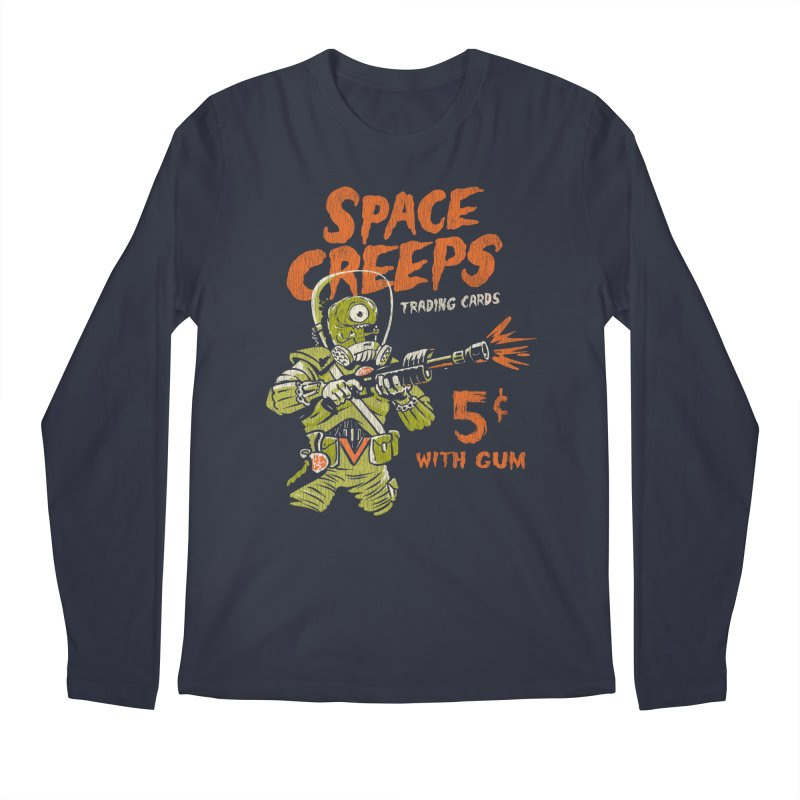 Space Creeps - 5 cents with Gum Men's Longsleeve T-Shirt by Cheap Chills Fan Club