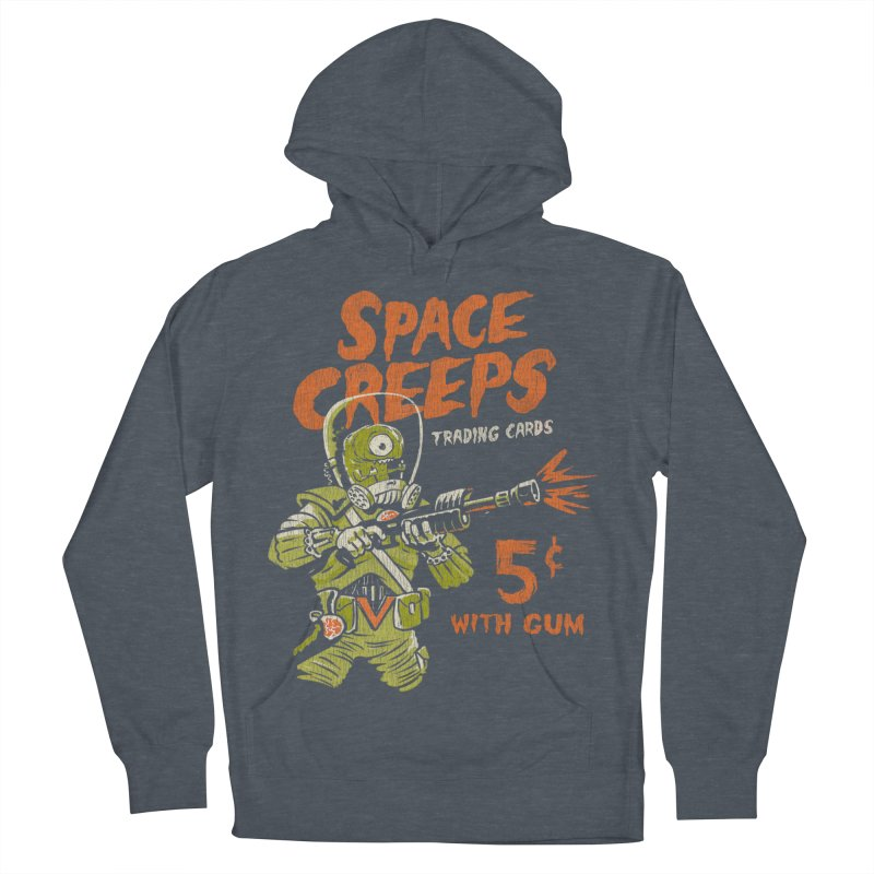 Space Creeps - 5 cents with Gum Men's French Terry Pullover Hoody by Cheap Chills Fan Club