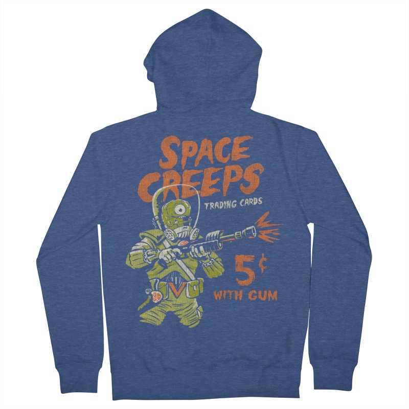 Space Creeps - 5 cents with Gum Women's French Terry Zip-Up Hoody by Cheap Chills Fan Club