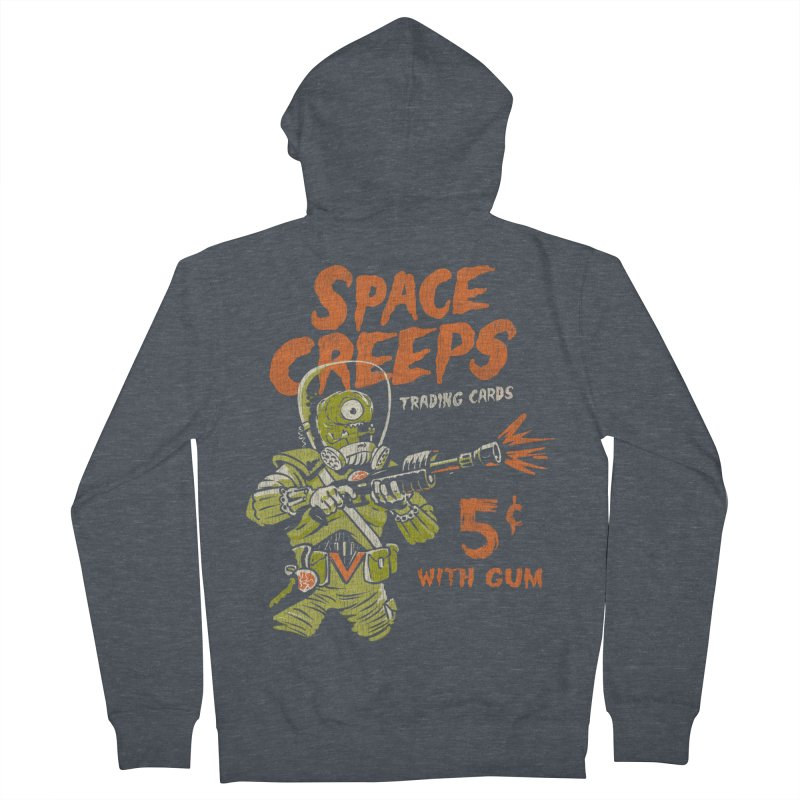 Space Creeps - 5 cents with Gum Men's Zip-Up Hoody by Cheap Chills Fan Club