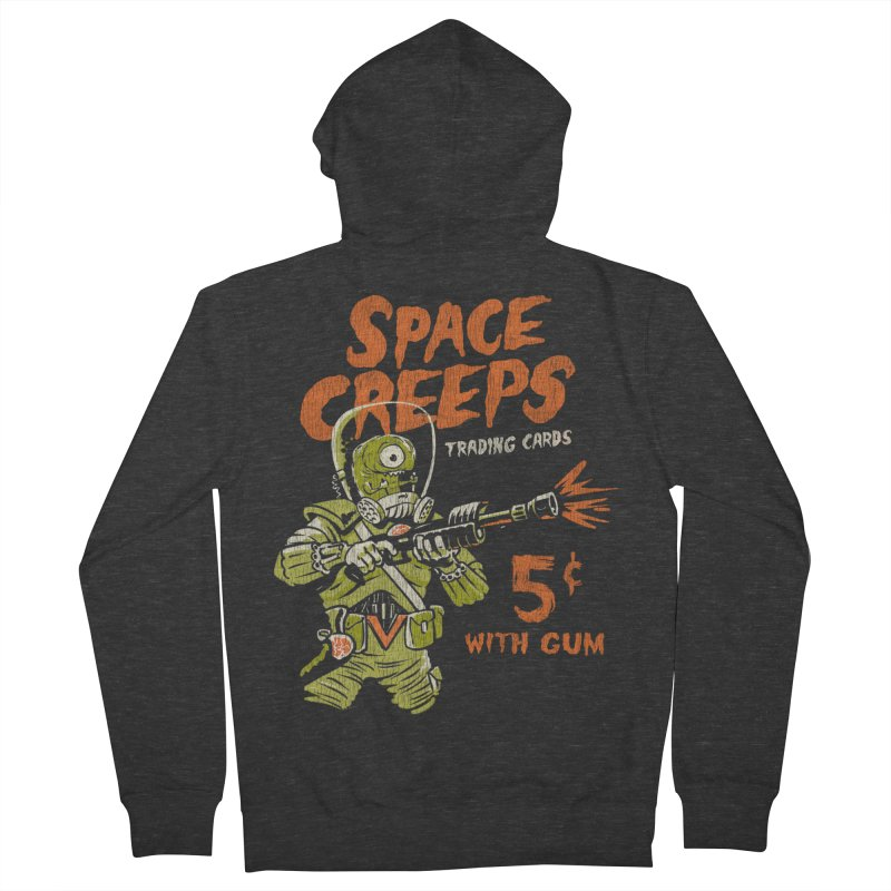 Space Creeps - 5 cents with Gum Men's French Terry Zip-Up Hoody by Cheap Chills Fan Club