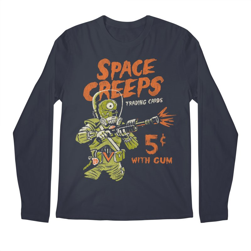 Space Creeps - 5 cents with Gum Men's Regular Longsleeve T-Shirt by Cheap Chills Fan Club