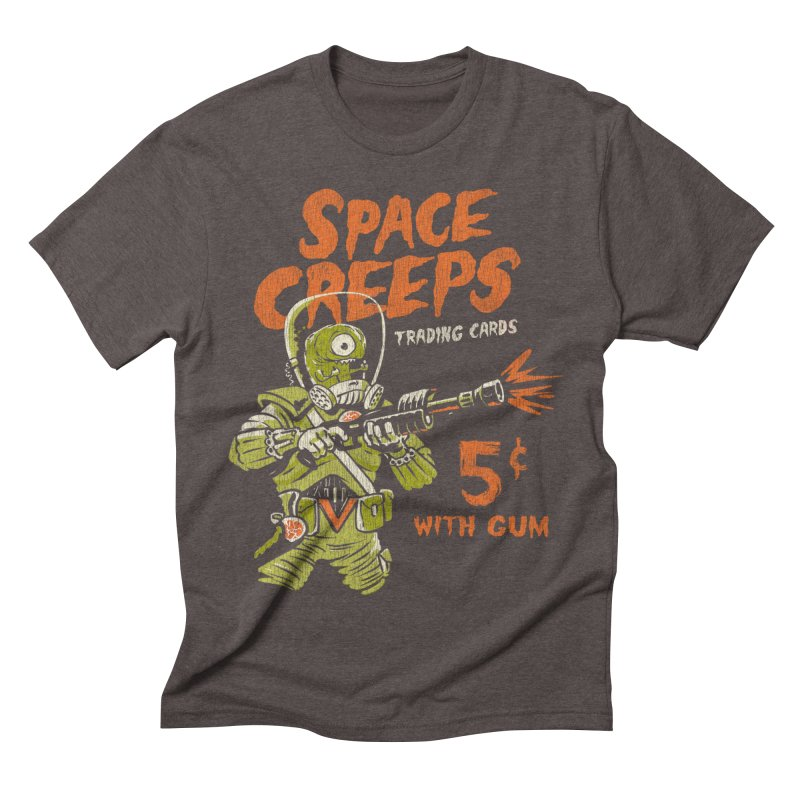 Space Creeps - 5 cents with Gum Men's Triblend T-Shirt by Cheap Chills Fan Club