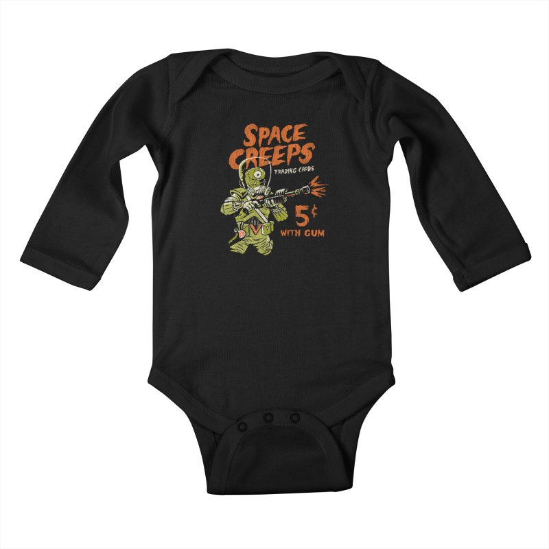 Space Creeps - 5 cents with Gum Kids Baby Longsleeve Bodysuit by Cheap Chills Fan Club