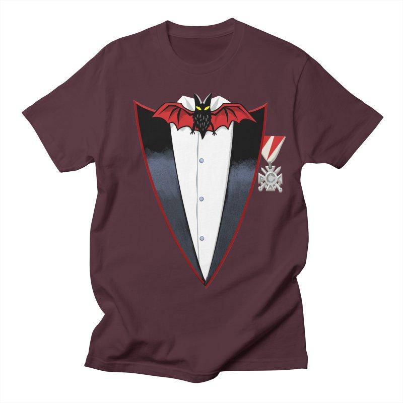 Dracula's Tuxedo Men's Regular T-Shirt by Cheap Chills Fan Club