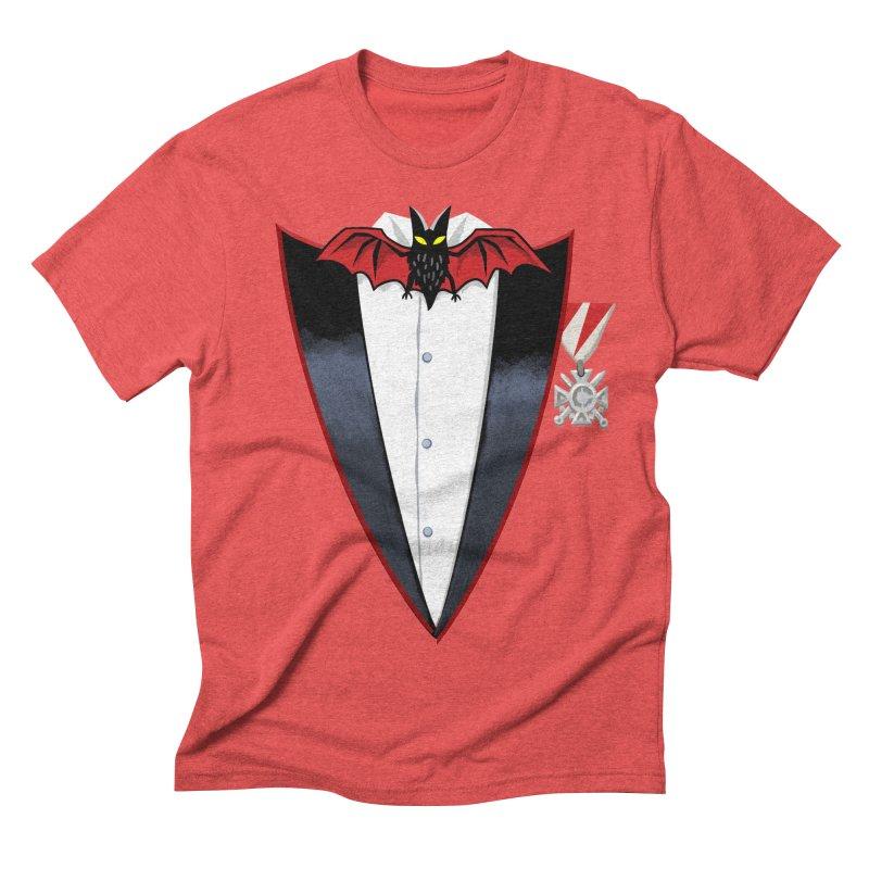 Dracula's Tuxedo Men's Triblend T-Shirt by Cheap Chills Fan Club
