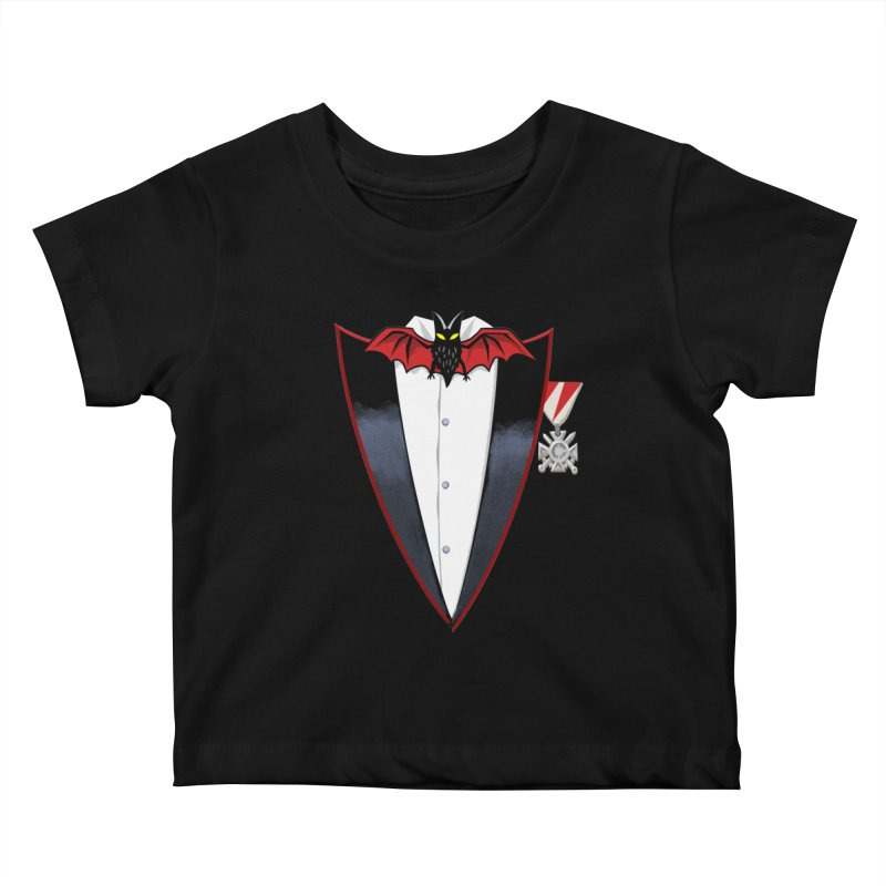 Dracula's Tuxedo Kids Baby T-Shirt by Cheap Chills Fan Club