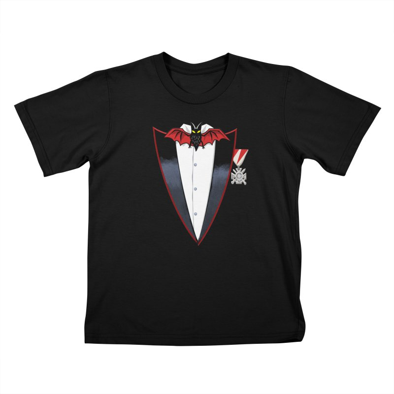 Dracula's Tuxedo Kids T-Shirt by Cheap Chills Fan Club