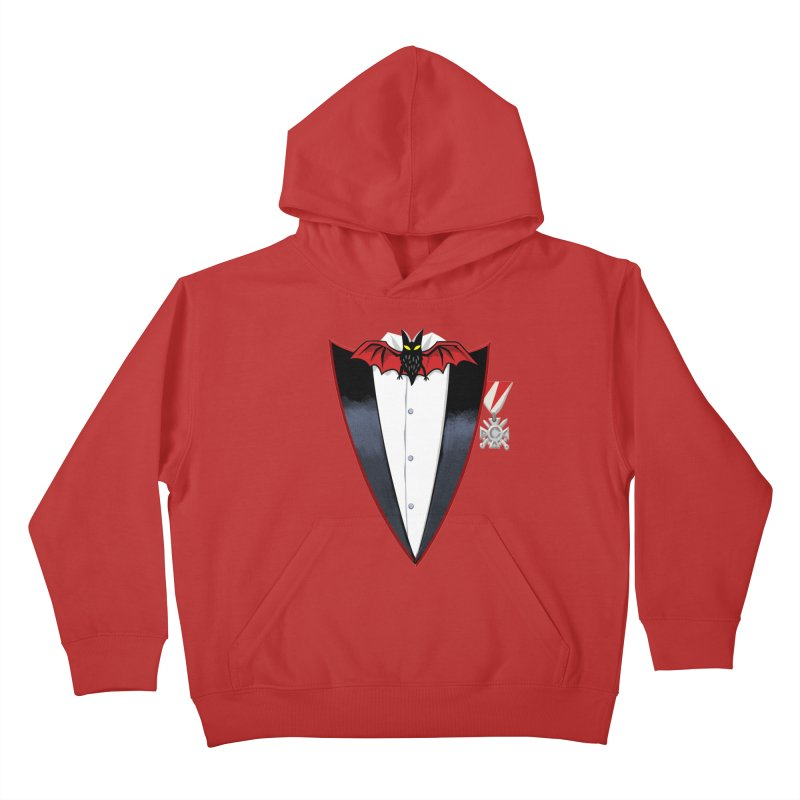 Dracula's Tuxedo Kids Pullover Hoody by Cheap Chills Fan Club