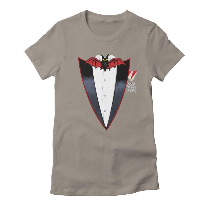 Dracula's Tuxedo Women's Fitted T-Shirt by Cheap Chills Fan Club
