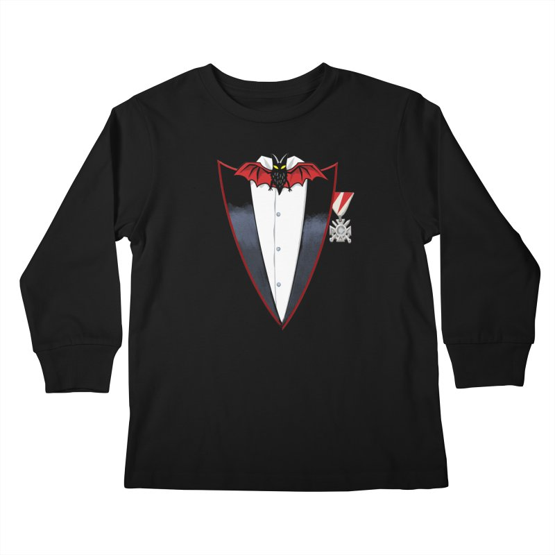 Dracula's Tuxedo Kids Longsleeve T-Shirt by Cheap Chills Fan Club