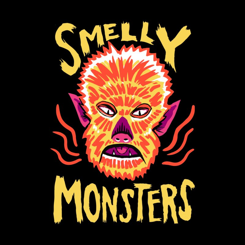 Smelly Monsters - Wolf Man has Bad Breath Men's Longsleeve T-Shirt by Cheap Chills Fan Club