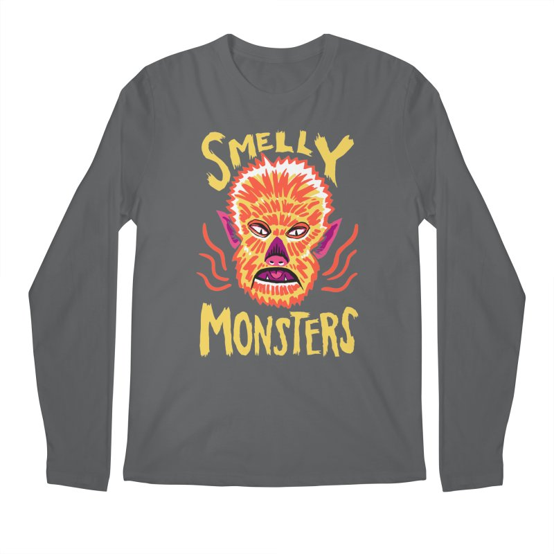 Smelly Monsters - Wolf Man has Bad Breath Men's Longsleeve T-Shirt by Cheap Chills Fan Club