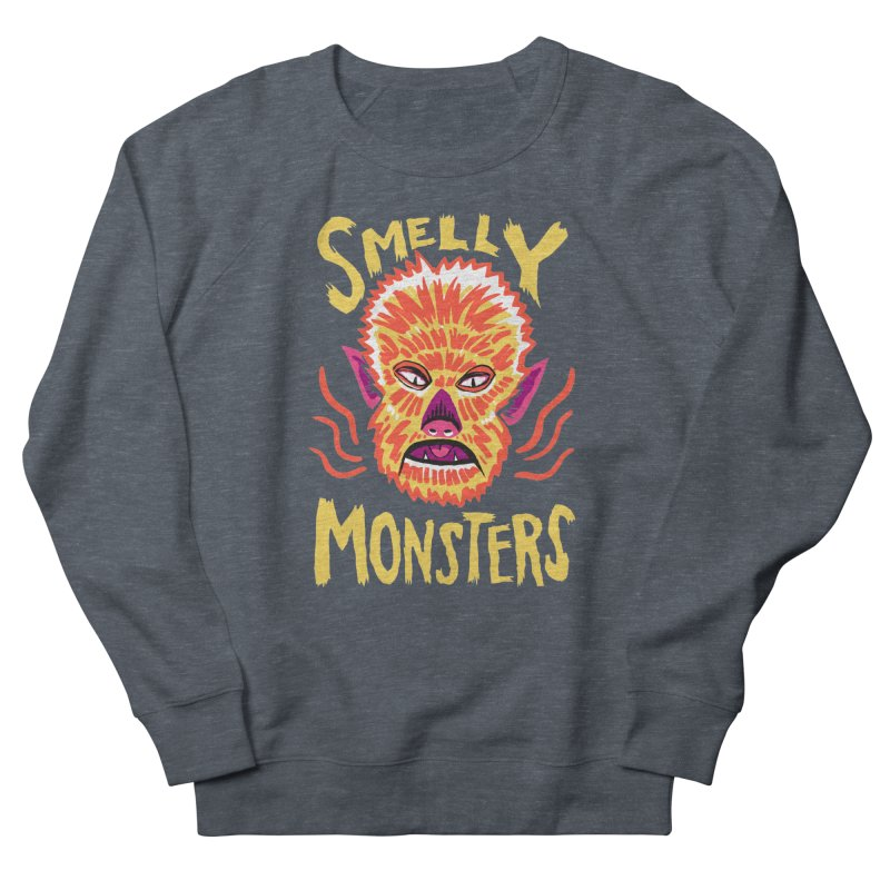 Smelly Monsters - Wolf Man has Bad Breath Men's Sweatshirt by Cheap Chills Fan Club