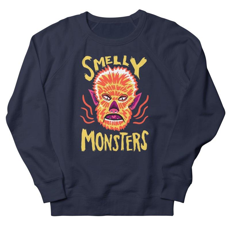 Smelly Monsters - Wolf Man has Bad Breath Men's Sweatshirt by Cheap Chills Fan Club