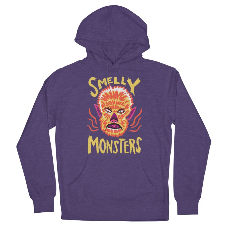 Smelly Monsters - Wolf Man has Bad Breath Men's Pullover Hoody by Cheap Chills Fan Club