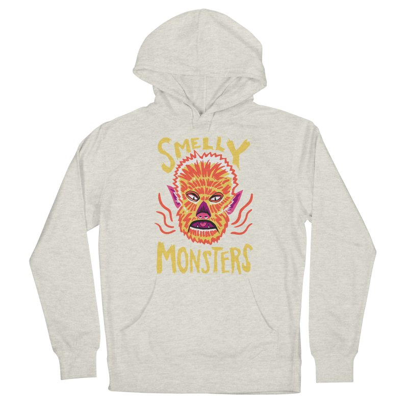 Smelly Monsters - Wolf Man has Bad Breath Women's Pullover Hoody by Cheap Chills Fan Club