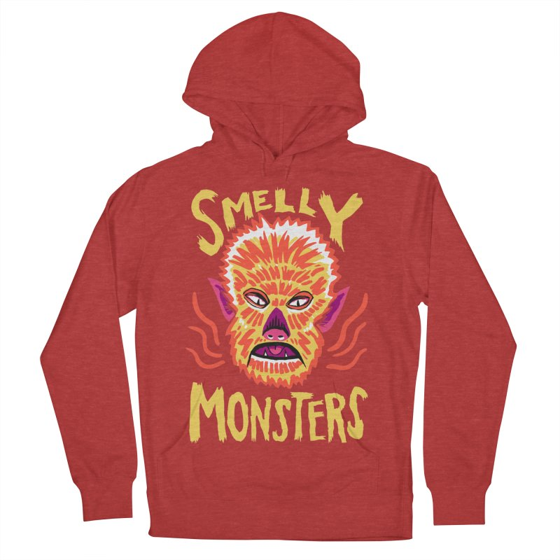 Smelly Monsters - Wolf Man has Bad Breath Men's French Terry Pullover Hoody by Cheap Chills Fan Club