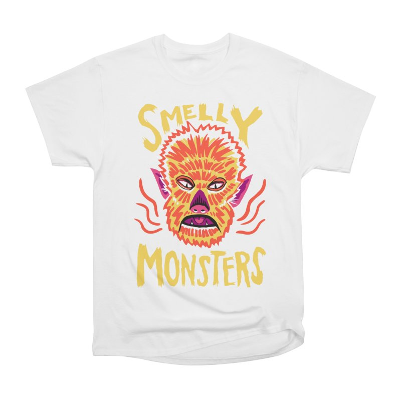 Smelly Monsters - Wolf Man has Bad Breath Men's Classic T-Shirt by Cheap Chills Fan Club