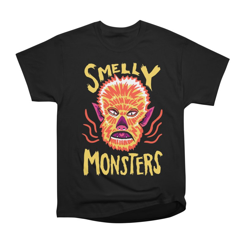 Smelly Monsters - Wolf Man has Bad Breath Men's Heavyweight T-Shirt by Cheap Chills Fan Club