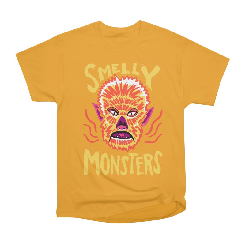 Smelly Monsters - Wolf Man has Bad Breath Women's Heavyweight Unisex T-Shirt by Cheap Chills Fan Club
