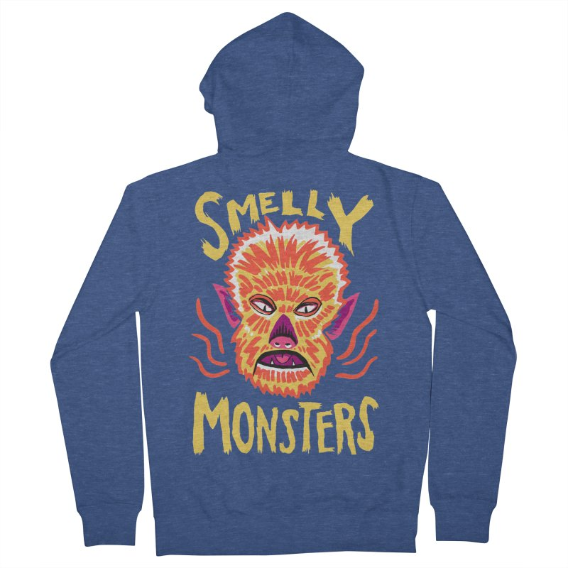 Smelly Monsters - Wolf Man has Bad Breath Women's French Terry Zip-Up Hoody by Cheap Chills Fan Club