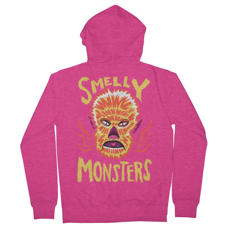Smelly Monsters - Wolf Man has Bad Breath Women's Zip-Up Hoody by Cheap Chills Fan Club