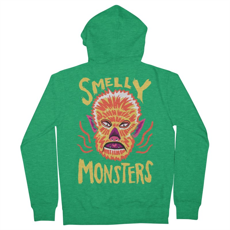 Smelly Monsters - Wolf Man has Bad Breath Men's Zip-Up Hoody by Cheap Chills Fan Club