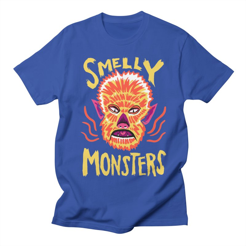 Smelly Monsters - Wolf Man has Bad Breath Men's Regular T-Shirt by Cheap Chills Fan Club