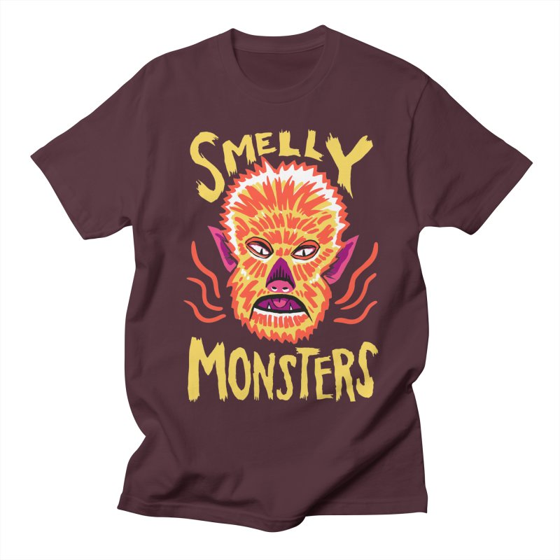 Smelly Monsters - Wolf Man has Bad Breath Women's Regular Unisex T-Shirt by Cheap Chills Fan Club