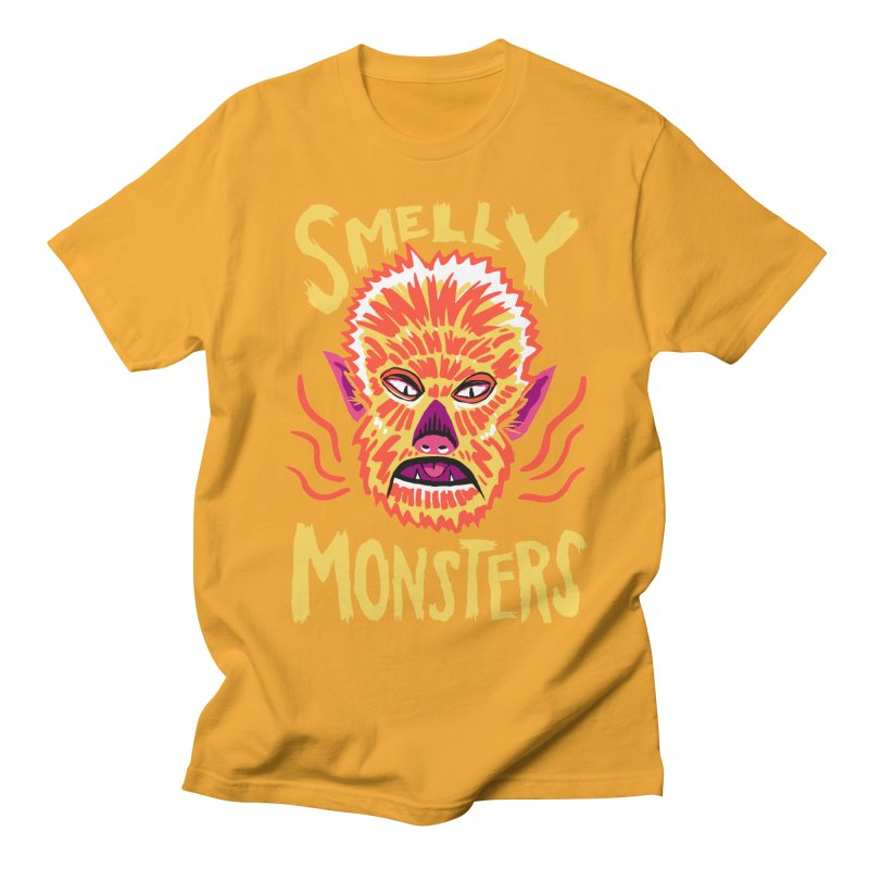 Smelly Monsters - Wolf Man has Bad Breath Women's Unisex T-Shirt by Cheap Chills Fan Club
