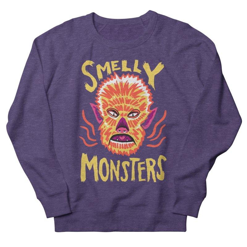 Smelly Monsters - Wolf Man has Bad Breath Women's Sweatshirt by Cheap Chills Fan Club