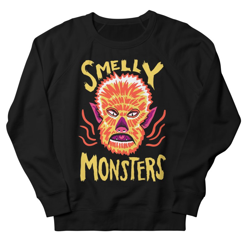 Smelly Monsters - Wolf Man has Bad Breath Women's French Terry Sweatshirt by Cheap Chills Fan Club