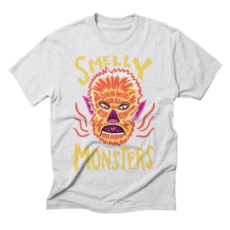 Smelly Monsters - Wolf Man has Bad Breath Men's Triblend T-Shirt by Cheap Chills Fan Club