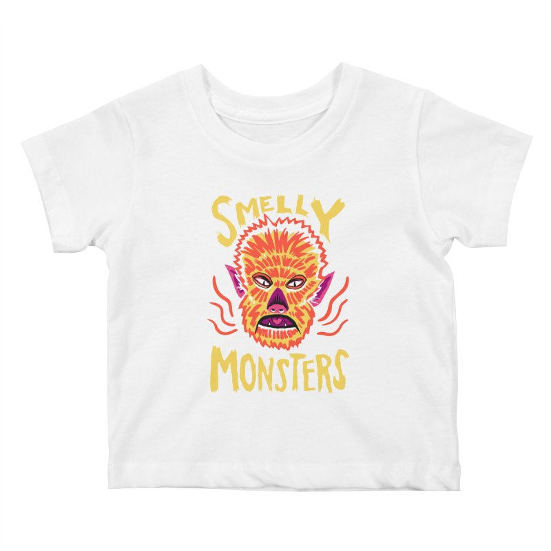Smelly Monsters - Wolf Man has Bad Breath Kids Baby T-Shirt by Cheap Chills Fan Club
