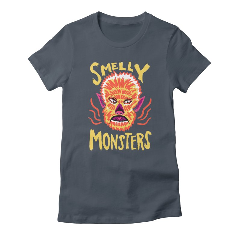 Smelly Monsters - Wolf Man has Bad Breath Women's T-Shirt by Cheap Chills Fan Club