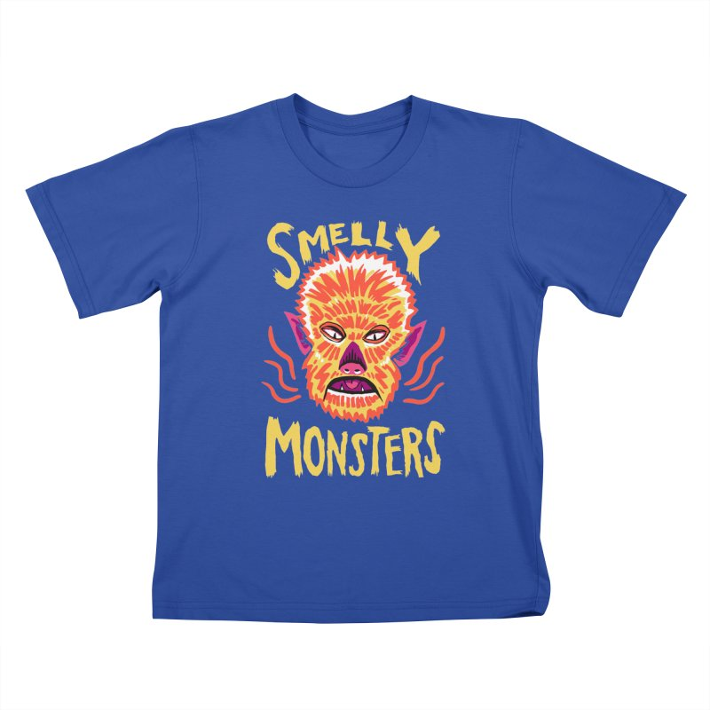 Smelly Monsters - Wolf Man has Bad Breath Kids T-Shirt by Cheap Chills Fan Club