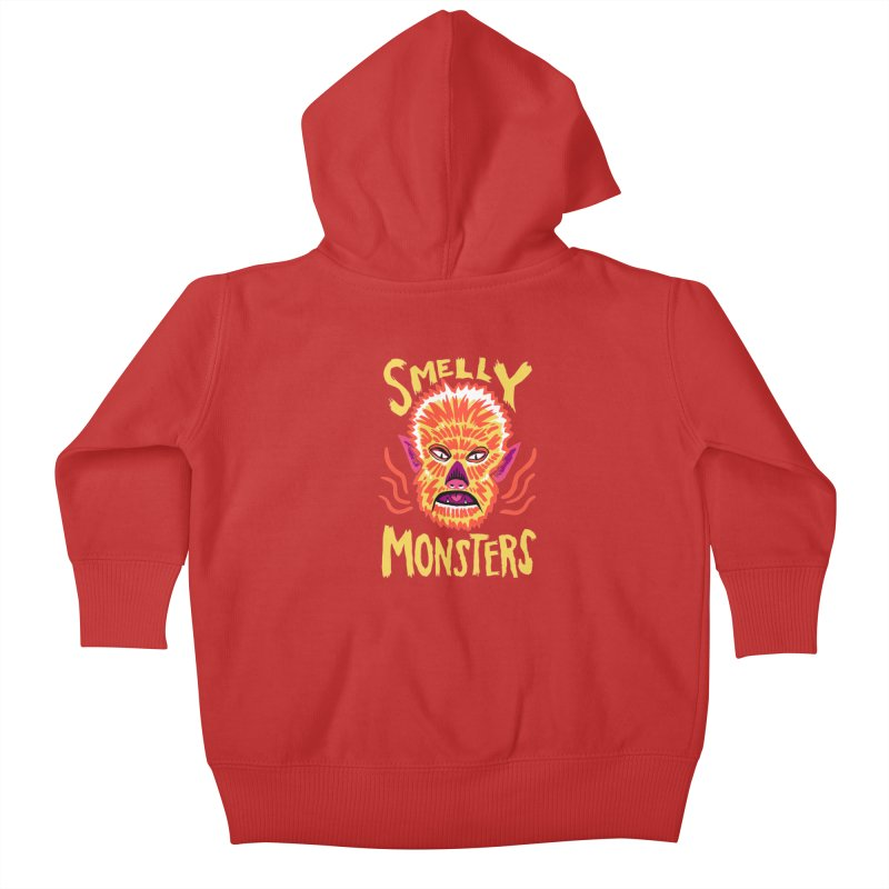 Smelly Monsters - Wolf Man has Bad Breath Kids Baby Zip-Up Hoody by Cheap Chills Fan Club