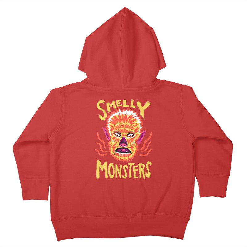 Smelly Monsters - Wolf Man has Bad Breath Kids Toddler Zip-Up Hoody by Cheap Chills Fan Club