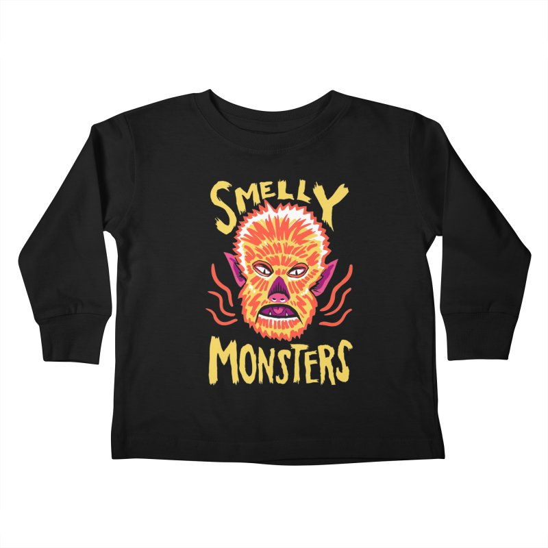 Smelly Monsters - Wolf Man has Bad Breath Kids Toddler Longsleeve T-Shirt by Cheap Chills Fan Club
