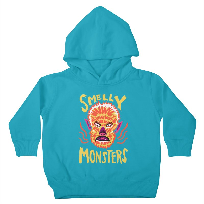 Smelly Monsters - Wolf Man has Bad Breath Kids Toddler Pullover Hoody by Cheap Chills Fan Club