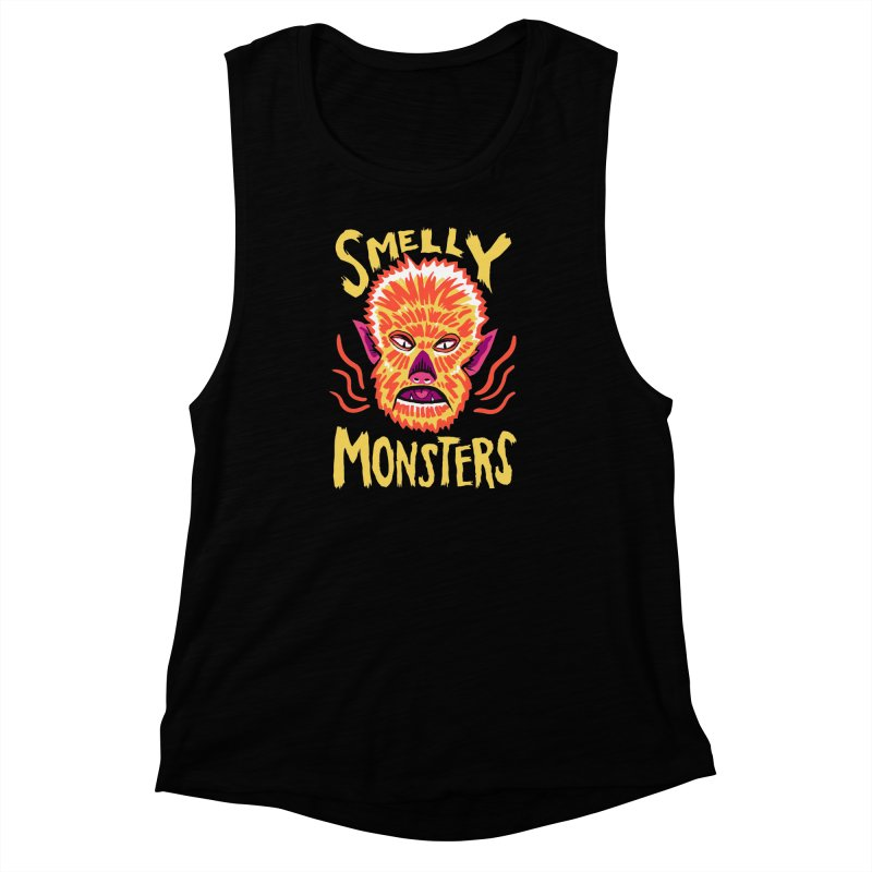 Smelly Monsters - Wolf Man has Bad Breath Women's Muscle Tank by Cheap Chills Fan Club