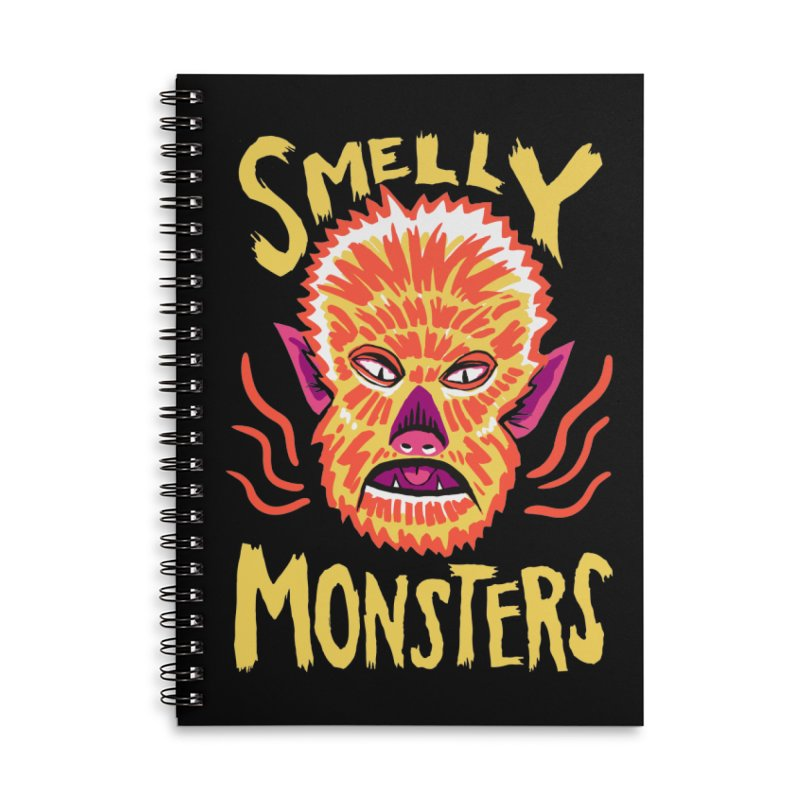 Smelly Monsters - Wolf Man has Bad Breath Accessories Lined Spiral Notebook by Cheap Chills Fan Club