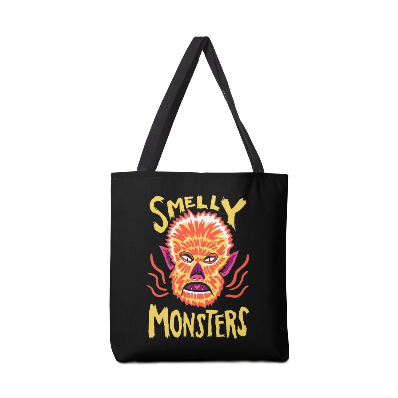 Smelly Monsters - Wolf Man has Bad Breath Accessories Tote Bag Bag by Cheap Chills Fan Club
