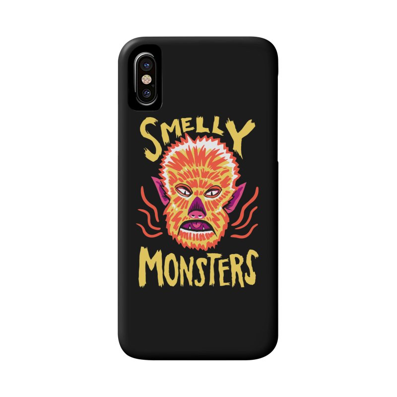 Smelly Monsters - Wolf Man has Bad Breath Accessories Phone Case by Cheap Chills Fan Club