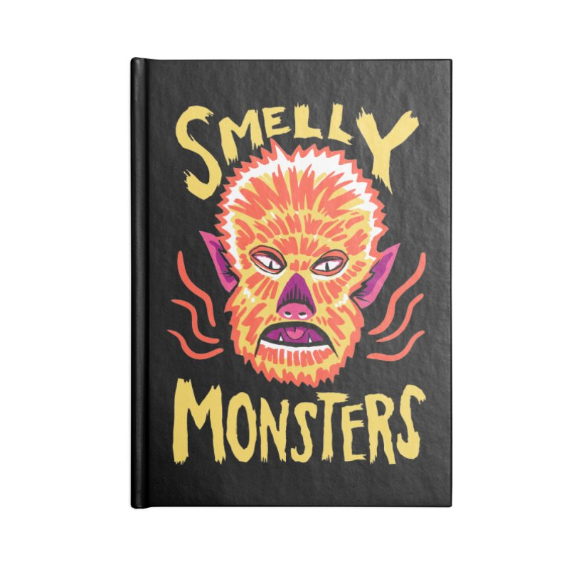 Smelly Monsters - Wolf Man has Bad Breath Accessories Notebook by Cheap Chills Fan Club
