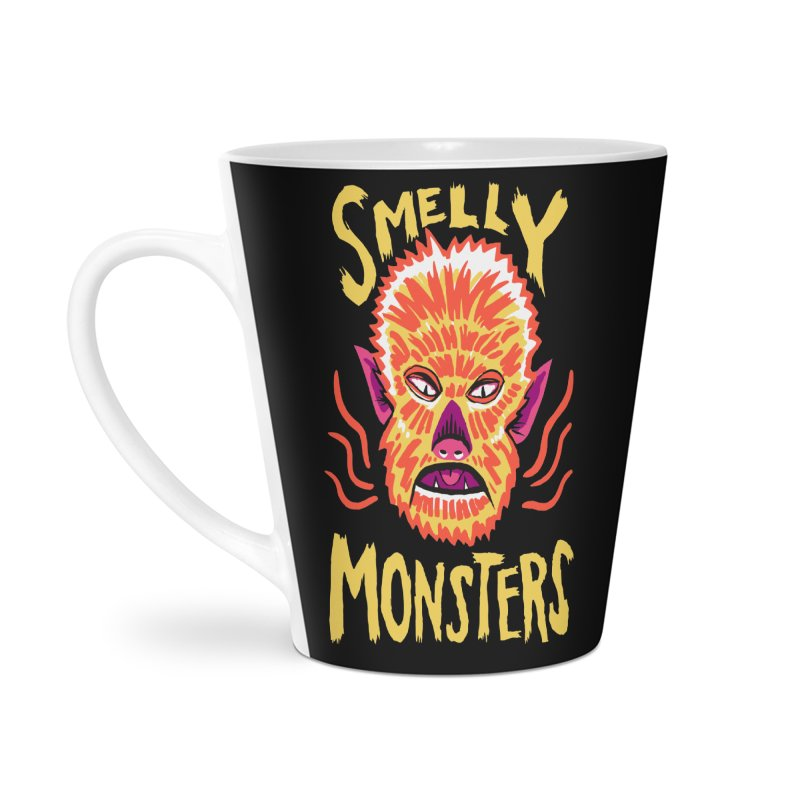 Smelly Monsters - Wolf Man has Bad Breath Accessories Latte Mug by Cheap Chills Fan Club