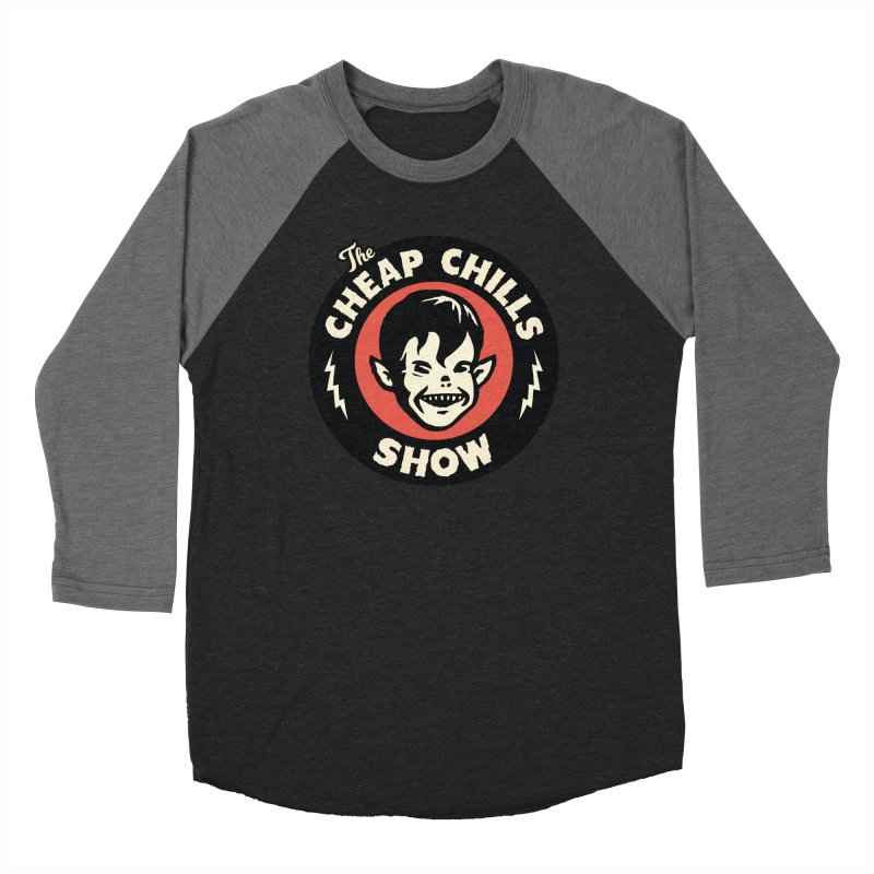 The Cheap Chills Show - official logo Women's Baseball Triblend Longsleeve T-Shirt by Cheap Chills Fan Club